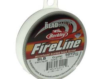 Fireline, 8 LB, 50 yard spool, Crystal
