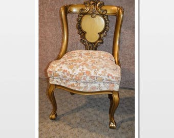 Quick View. Antique Carved Wood Accent Chair ...