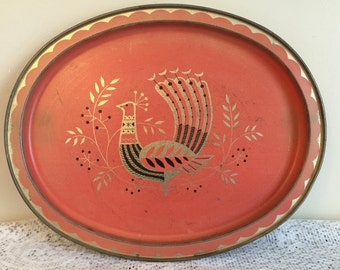 Decorative trays with bird design