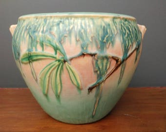 Amazing 1930s Moss Pattern Art Deco Roseville Vase