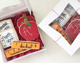 Teacher Gifts, Teacher Cookies, Teacher Appreciation, End Of Year Cookies, Cookie Gifts, Teacher Thank you, End of Year Gifts