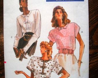 Vogue Printed Pattern ~ Vogue 7506 ~ Sizes 6 to 10 ~ 1989 Misses' Petite Blouse