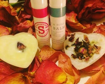 Mint and Rose Lip Balm