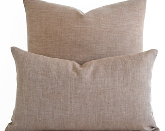 12x20,16x16,18x18,20x20 Solid Brown Linen Decorative Pillow Cover Home Decor Accent Pillow Modern Pillow Cushion Cover Brown Pillows Couch