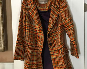Young Edwardian by Arpeja 60's Colorful Vintage Coat And Dress