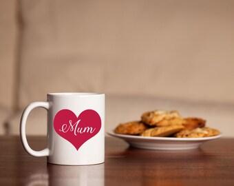 Mum Love Heart Mug
