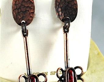 Pendientes cobre Vintage Made in Spain