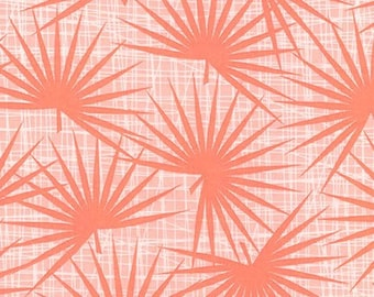 Palm Canyon Frond Coral by Violet Craft Peach Palms