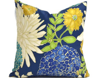 Pillow Covers ANY SIZE Decorative Pillow Cover Blue Pillow Richloom St Moritz Caribbean