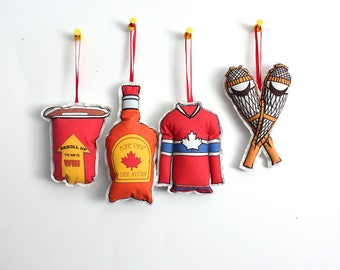 Canadian Ornaments- Set of 4 Holiday ornaments