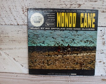 Vintage Record Album Mondo Cane Original Music Score Motion Picture Recording Gifts for Him for Her for Wife for Husband for Friend USA