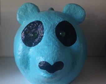 Bear-design handmade paper mache box