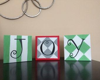 "Set of 3 ""Joy"" Canvases"