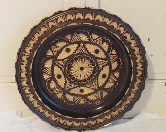 Carved Decorative Plate