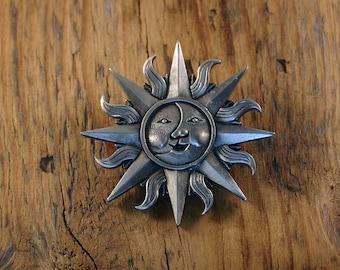 Celtic Sun & Moon Brooch