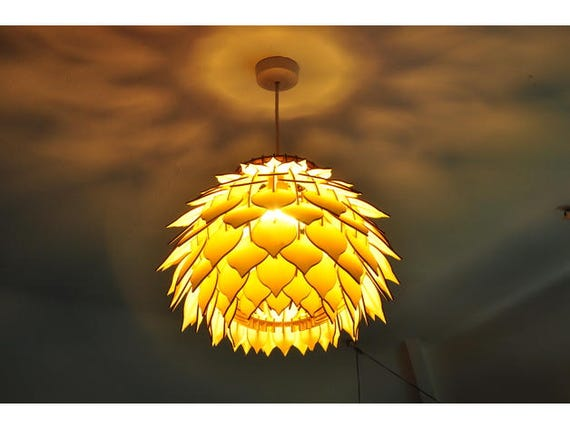 Vector plan pendant lamp wood DXF drawing for CNC cutting