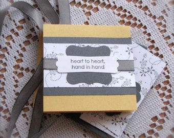 DIY ~ Any Occasion ~ 3 x 3 Mini Cards ~ Greeting Card Kit  - Set of 4 - Shipping Included