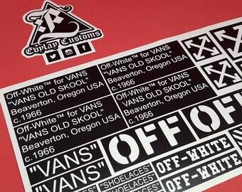 Off White VANS Logo Stencil