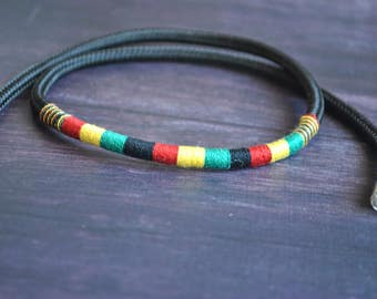 Rasta Costa Rica necklace | Costa rican jewelry | rasta jewelry | rastafari jewelry | rastafari rasta | rasta halskette | eco friendly