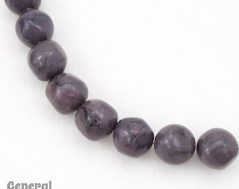 12mm Dark Grey Vintage Lucite Bead (24 Pcs) #4444