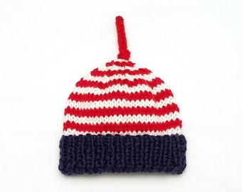 4th of July Baby Hat • 4th of July Newborn Hat • USA Baby Hat • USA Newborn Hat • Independence Day Baby Hat • Baby Shower Gift •Hospital Hat