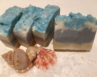 Sea Salt Soap/ Natural/Cold Processed