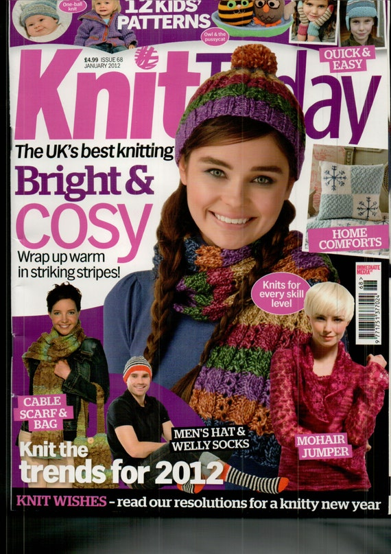 Knit Today Knitting Magazine Issue 68 January 2012