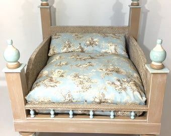 SALE!!  Shabby Chic Rose Gold or Blue Pet Bed