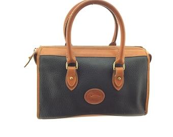Vintage Dooney Burke tote bag distressed