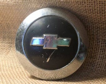 Chevy Pickup Steering Wheel Horn Cap Vintage 1955 to 1956 horn cap Chevrolet Muscle car Fifties auto gifts for him Car Buff stuff Guy Dudes