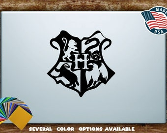 Harry Potter Hogwarts Crest Silhouette Vinyl Diecut Decal Sticker All Sizes