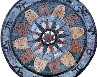 Stone Mosaic Artwork - Zodiac