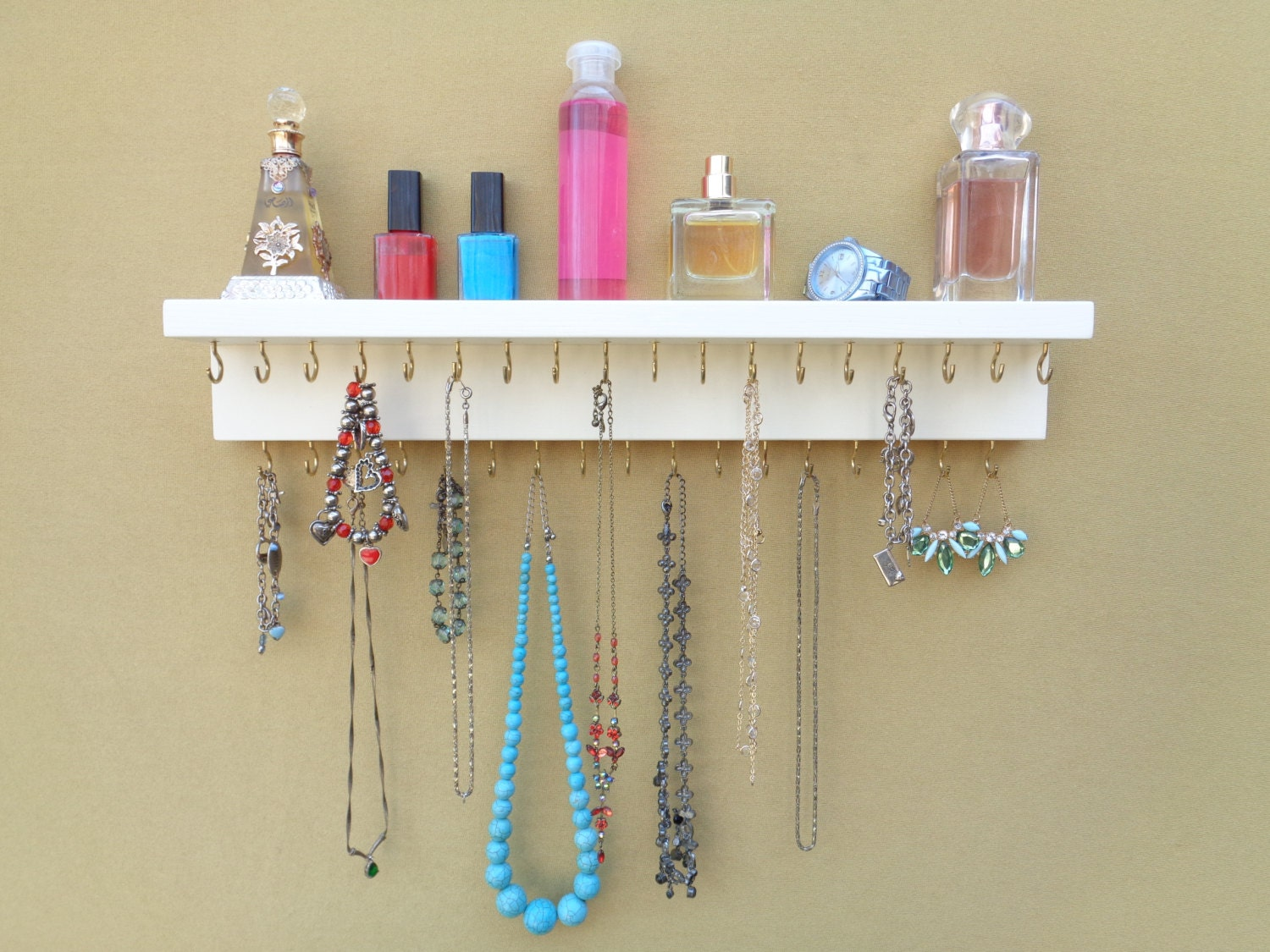Jewelry Necklace Rack Necklace Holder Wall Mounted