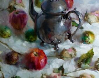 Cronus - original oil painting, alla prima oil painting, one of a kind