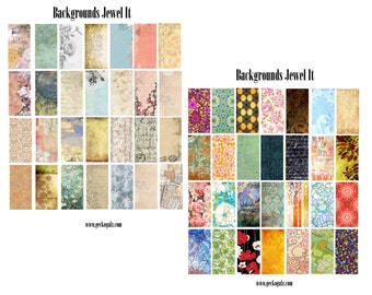"Background Jewel It 1""x2"" digital Collage set"