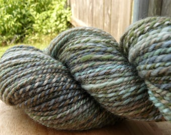 "Handspun Yarn Sportweight BFL 240 yds. ""Riverwalk"""