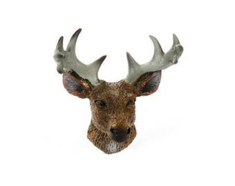 Miniatures - Deer Head with Antlers - 1.75 x 1.75 x 0.75 inches - 1 piece