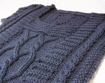 Celtic braid vest - knitting pattern - PDF - Saxon cable - Aran Tunic Vest Sweater Jumper Pullover - Mother
