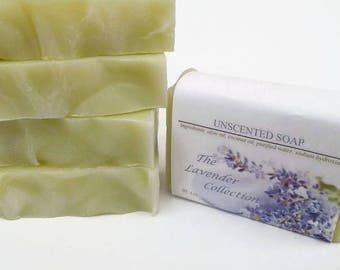 Unscented Cold Process Soap, Fragrance Free Soap,Olive Oil Soap, Natural Soap, Gentle Soap