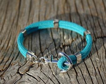 ANCHORED - Anchor bracelet in silver steel - waterproof