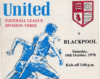 Vintage Football (soccer) Programme - Southend United v Blackpool, 1978/79 season