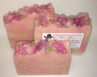 NO Coconut Oil | Gentle | Rose Goats Milk Soap |  Beautiful Classic Rose Fragrance