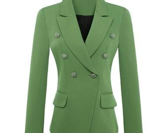 BALMAIN Inspired green blazer