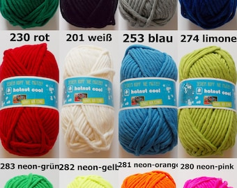 """150g wool """"hatnut cool"""" (5,00Euro/100g), many colours, super thick and soft"""