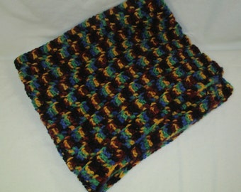 Baby Blanket, Multi Colored, Browns-Greens-Yellows & Blues