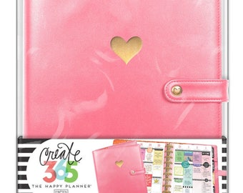 Create 365 The Classic Happy Planner Deluxe Cover (Salmon) / Planner Cover / Planner Case / Planner Accessories / 2017 Planner / Personalize