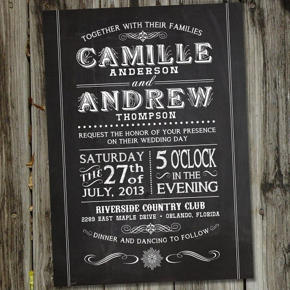 Chalkboard Wedding Invitations 016 - Chalkboard Wedding Invitations