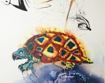 Print, Printable Salvador Dali's The Mock Turtle's Story of Alice in Wonderland, 1969 Lithograph