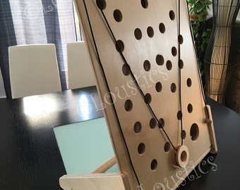 Wooden table top dexterity game, modular, for children, girls and boys, made in Quebec