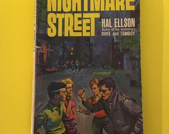 """Vintage Paperback Nightmare Street by Hal Ellson Retro Pulp Fiction 1964 """"Where Passion is a Pastime and Pain a Pleasure"""""""